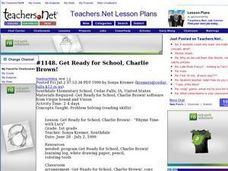 Get Ready for School, Charlie Brown! Lesson Plan