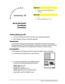 Get to the Point!  Coordinate Geometry! Lesson Plan