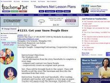Get your Snow People Here Lesson Plan