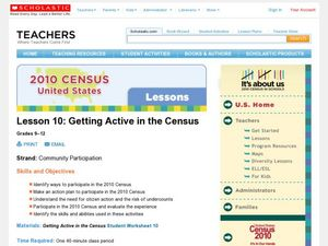 Getting Active in the Census Lesson Plan