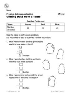Getting Data from a Table Worksheet