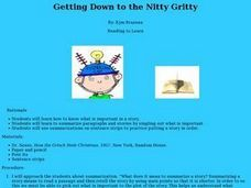 Getting Down to the Nitty Gritty Lesson Plan