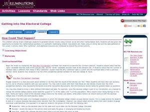 Getting into the Electoral College Lesson Plan