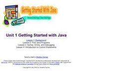 Getting Started with Java Lesson Plan
