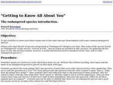 Getting to Know All About You Lesson Plan
