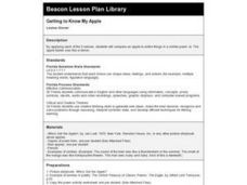 Getting to Know My Apple Lesson Plan