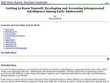 Getting to Know Yourself: Developing and Accessing Intrapersonal Intelligence Among Early Adolescents Lesson Plan