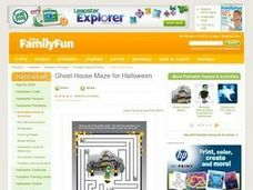 Ghost House Maze for Halloween Lesson Plan