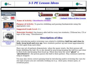 Ghostbuster Dribble Lesson Plan