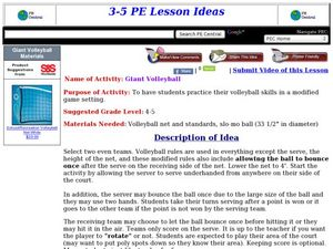 Giant Volleyball Lesson Plan