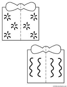 Gift Box Visual Discrimination Puzzles Worksheet