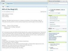 Gift of the Magi Lesson Plan 3 Lesson Plan