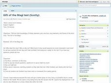 Gift of the Magi Test Lesson Plan