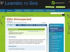Gifts Disrespected Lesson Plan