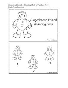Gingerbread Friend Counting Book Worksheet