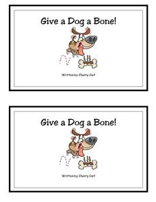 Give a Dog a Bone! -- Full Color Copy Printables & Template