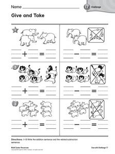 Give and Take Worksheet