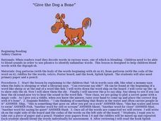 Give the Dog a Bone Lesson Plan