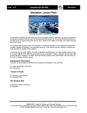 Glaciation Lesson Plan