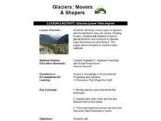 Glaciers Leave Their Imprint Lesson Plan
