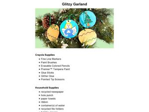 Glitzy Garland Lesson Plan