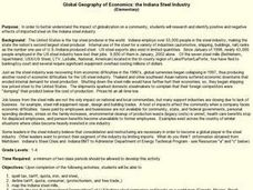Global Geography of Economics: the Indiana Steel Industry Lesson Plan
