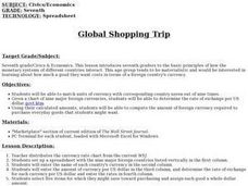 Global Shopping Trip Lesson Plan