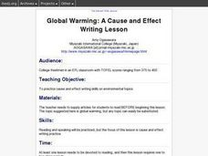 Global Warming: A Cause and Effect Writing Lesson Lesson Plan