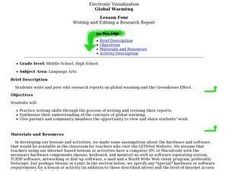 Global Warming: Writing and Editing a Research Report Lesson Plan