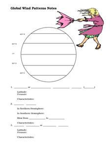 Worksheets Global Wind Patterns Worksheet global wind patterns notes 8th 10th grade worksheet lesson planet worksheet