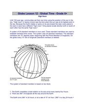 Globe Lesson 12: Global Time Lesson Plan