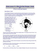 Globe Lesson 13 - When the Day Changes Lesson Plan
