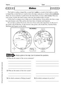 Globes Worksheet