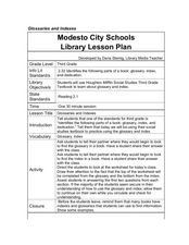 Glossaries and Indexes Lesson Plan