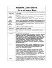Glossary, Index, and Table of Contents Lesson Plan