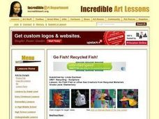 Go Fish! Fish or other Sea Creature from Recycled Materials Lesson Plan