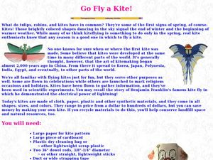 Go Fly a Kite! Lesson Plan