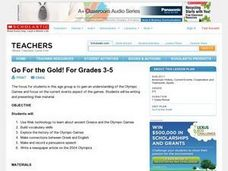 Go For the Gold! For Grades 3-5 Lesson Plan