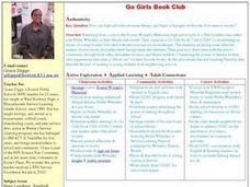 Go Girls Book Club Lesson Plan