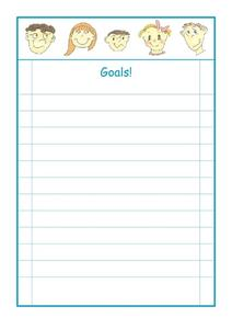 Goals! Worksheet