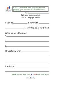 Going On An Excursion Worksheet Lesson Plan
