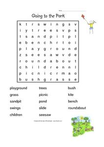 Going To the Park Worksheet