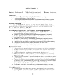 Going Up and Down Lesson Plan