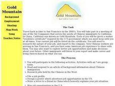 Gold Mountain: Real Gold or Fool's Gold Lesson Plan