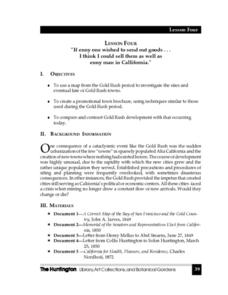 Gold Rush -- Lesson 4 Lesson Plan