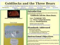 Goldilock and the Three Bears Lesson Plan