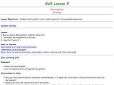 Golf - Lesson 9 - Setting Goals, Strategy Lesson Plan
