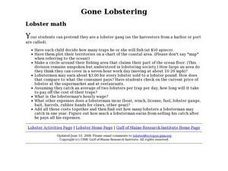 Gone Lobstering Lesson Plan