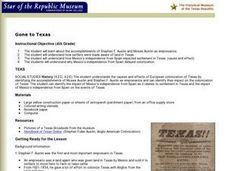 Gone to Texas Lesson Plan