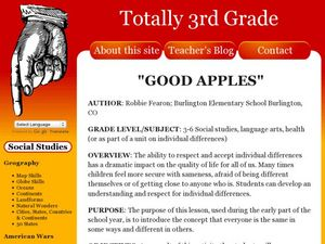 Good Apples Lesson Plan